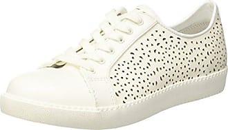 5211474, Sneakers Basses Femme - Blanc - Bianco (Bianco/Argento), 38 EUNorth Star