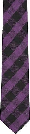 Cotton Handkerchief - Purple and black plaid, striped look, vague checks - Notch ROSS Notch