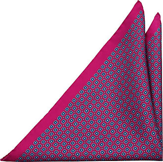 Pocket Square - Squares and tine circles in pink and blue Notch AKuXUz