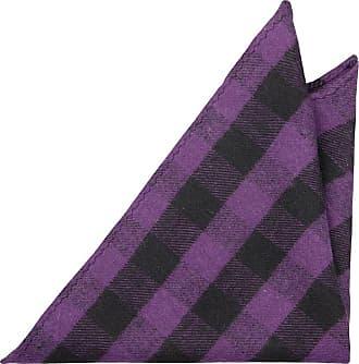 Cotton Necktie - Purple and black plaid, striped look, vague checks - Notch ROSS Notch
