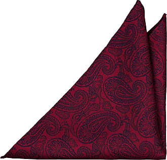 Handkerchief from Tieroom, Notch RANDAL, red paisley pattern Notch