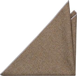 Handkerchief - Metallic beige twill, white dots - Notch PAWEL Notch