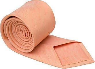 Linen Handkerchief - Solid, apricot orange plain linen weave - Notch SUKSHINDER Notch