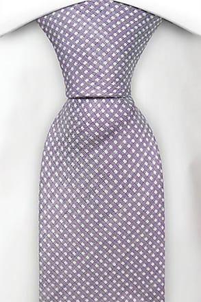 Slim tie - Pale purple linen with mini diamond dots Notch 5JOEXw