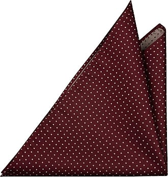 Handkerchief - Cardinal red twill, small white polka dots Notch