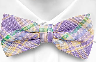Pre tied bow tie - Purple Chalk stripes - Notch WOON Notch vtgevp