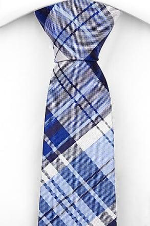 Cotton Slim necktie - Plaid in red, navy blue, white and bright blue - Notch THORJAN Notch