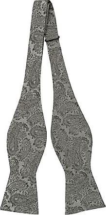 Silk Self tie bow tie - Light grey base, butterflies in darker grey shades - Notch PEPE Notch