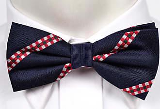 Tied bow tie from Tieroom, Notch TRIPP has purple base & stripes in white & yellow Notch