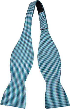 untied bow tie from Tieroom, Notch SCOTTY has turquoise base & slim stripes in white Notch