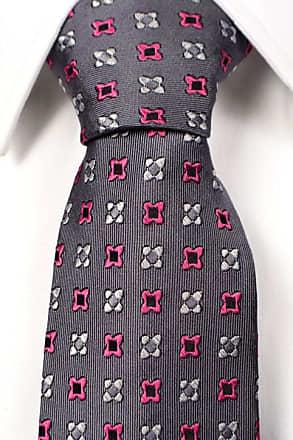 Silk Necktie - Plaid pattern in black orange and white - Notch RIKARD Notch 74QRUZ