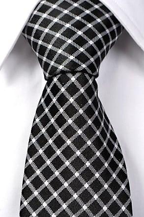 Cravate De Tieroom, Konran De Premier Ordre, Base Noire, Encoche Vérifiée Blanc