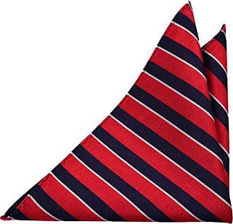Carré De Poche Soie - Rayures Rouge Et Bleu Marine - Cran Hyvens Cran Rouge hjNtRJ