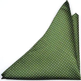 Handkerchief from Tieroom, Notch BASTIAN, green, stripes blue white Notch
