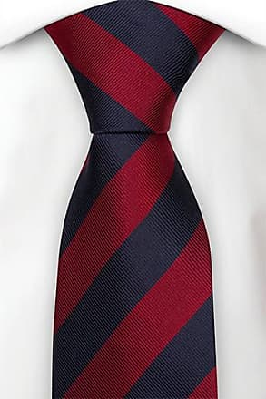Cotton Slim necktie - Plaid with blue and beige base and red lines - Notch RHYS Notch qChYqjjJ