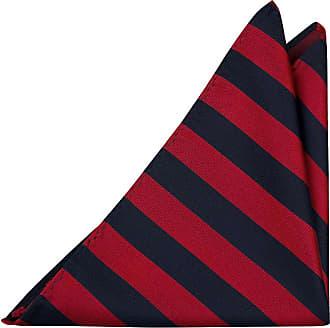Handkerchief - Beige, blue, brown & red twill stripes, blue edges Notch