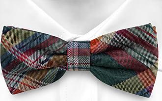 Cravate Pré Attaché À L'arc - Carreaux Colorés Dans L'encoche Verte, Rouge, Bleu Et Vert