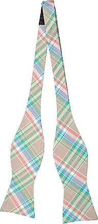 Cravate Auto Cravate Arc - Beige, Madras Vert, Blanc, Rouge, Bleu À Carreaux Cran