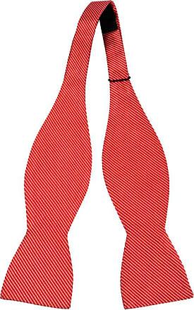 Arc Auto-cravate De Soie Cravate - La Base D'orange Et De Rayures Dans L'encoche Bleu Et Blanc RrhUS