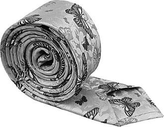 Silk Slim necktie - Light grey base, butterflies in darker grey shades - Notch PEPE Notch