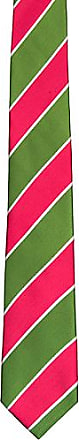 Cravate - Rayures Larges Vert Et Rose Et Encoche De Fines Lignes Blanches wXsNyyOSmZ