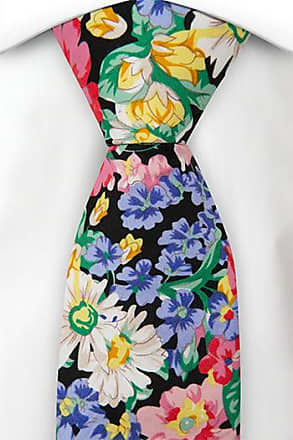 Necktie - Colourful floral pattern with black base - Notch FABIO Notch EECwWMQ0l