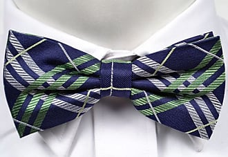Tied bow tie from Tieroom, Notch DANNY, red striped and blue based Notch