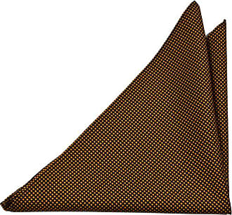 Handkerchief - Solid golden moss knit with white edges Notch Wa7i7