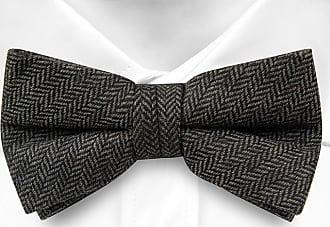 Self tie bow tie - Solid grey with small grid pattern Notch YuPgF