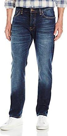 Dude Dan, Jeans para Hombre, Azul (Dark Fuzz), W33/L32 (Talla del fabricante: L32W33) Nudie Jeans