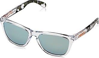 Oakley Herren Sonnenbrille Frogskins 9013A4, Weiß (Polished Clear), 55