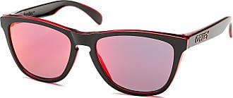 Oakley Sonnenbrille Frogskins, UV 400, schwarz/rot bunt