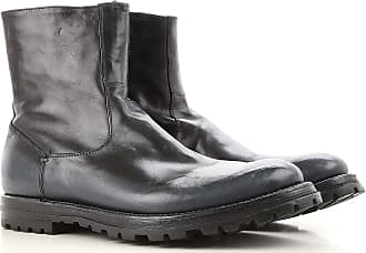 Boots for Men, Booties On Sale, Blue-Black, Calfskin Leather, 2017, 8.5 Officine Creative