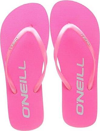 O'Neill FW Logo Cork Flip Flops, Chanclas para Mujer, Pink (4091 Shocking Pink), 36 EU