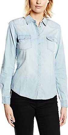 Only Onllucky Reg Dnm Shirt Bj11003, Blusa para Mujer, Azul (Medium Blue Denim Medium Blue Denim), 36
