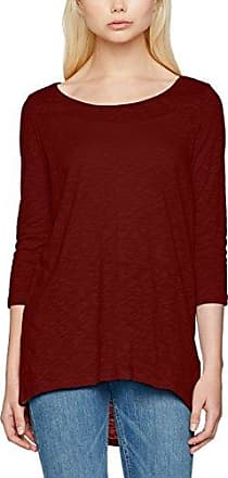 Onltatjana Burnout 3/4 Top JRS, T-Shirt à Manches Longues Femme, Rouge (Rose Red Rose Red), 40 (Taille Fabricant: Medium)Only