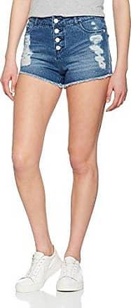 Only Onlcoral SL. Destroy Dnm Shorts AKM Noos, Pantalones Cortos para Mujer, Azul (Medium Blue Denim Medium Blue Denim), W26