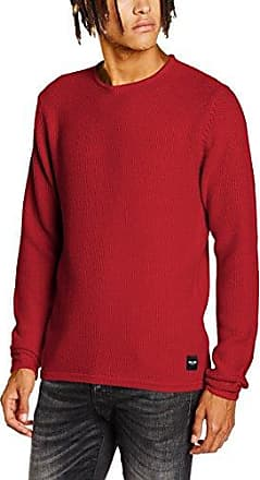 onsDONALD Crew Neck Knit, suéter Hombre, Rojo (Rosewood), X-Large Only & Sons