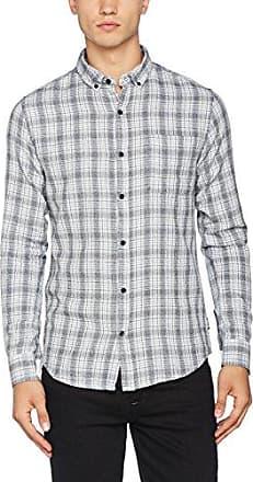 Onsalvin LS Shirt, Camisa para Hombre, Gris (Tea Tea), Large Only & Sons