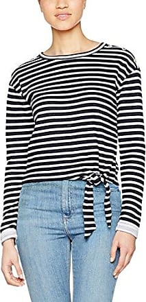 Onlsara S/s Top Ess, T-Shirt Femme, Multicolore (Cloud Dancer Stripes:Total Eclipse), 36 (Taille Fabricant: Small)Only