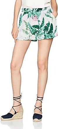 Only Onlneil Paperbag Shorts Wvn, Pantalones Cortos para Mujer, Multicolor (Cloud Dancer Stripes: Blue/Grey As Smpl), 40 (Talla del Fabricante: 38)
