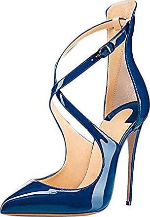 SHOWHOW Damen Spitz Zehe Slingback High Heels Sandale Schwarz 37 EU a8X5yWk