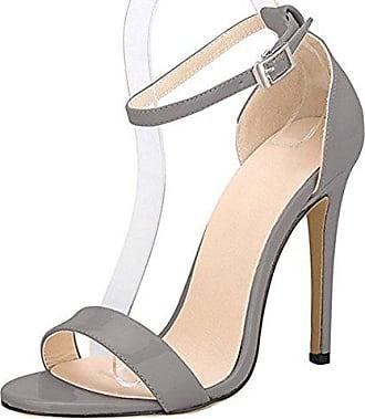 SHOWHOW Damen Sexy Peep Toe Paillette Plateau Stiletto Knöchelriemchen Sandale Gold 41 EU rbIDIOH
