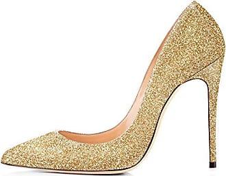 High Heels, Womens Glitter Slip-On Pumps Pointy Toe Party Dress Wedding Shoes Purple EU 43 Onlymaker