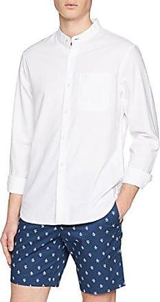Grandad, Camisa de Oficina para Hombre, Blanco (Bright White 118), Small Original Penguin
