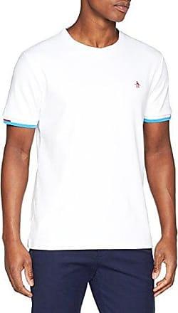 Original Penguin CAMO LOGO TEE - Camiseta básica - bright white 09pt3