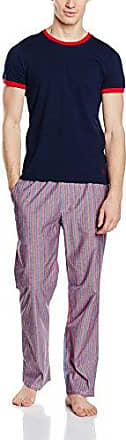 MLGPE021, Conjunto de Pijama Para Hombre, Multicolor (Navy/Striped), Medium Original Penguin