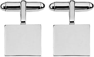 Orton West Orton West Sterling Silver Square 2mm Plate Cufflinks - Silver Silv tiDxi