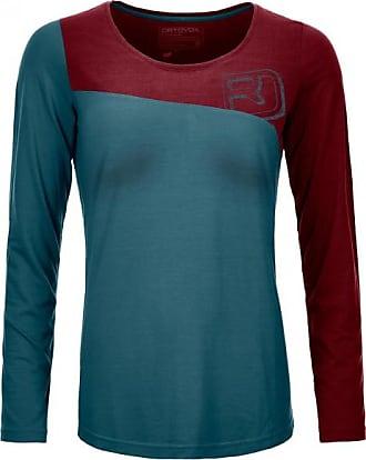 150 Cool Logo Long Sleeve Longsleeve für Damen   blau/rot Ortovox