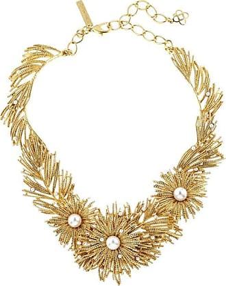 Oscar De La Renta Golden Pearl Critters Necklace IlDUziyckP